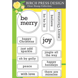 Contempo Christmas Greetings, Birch Press Design Clear Stamps -