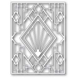 Stylized Deco Frame, Poppystamps Dies -