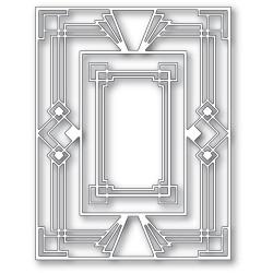 Stepped Deco Frame, Poppystamps Dies -