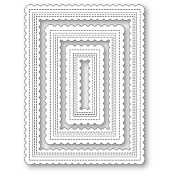 Double Scalloped Stitched Frames, Poppystamps Dies -