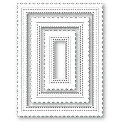 Scalloped Stitched Frames, Poppystamps Dies -