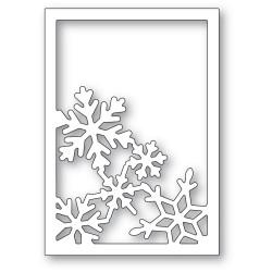 Snowflake Corner Frame, Poppystamps Dies -