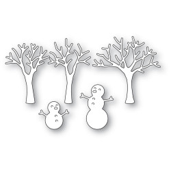 Snowman and Trees, Poppystamps Dies -