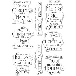 Peaceful Christmas Greetings, Poppystamps Clear Stamps -
