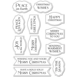 Gilded Christmas Wishes, Poppystamps Clear Stamps -