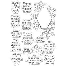 Wintertime Sentiments, Poppystamps Clear Stamps -