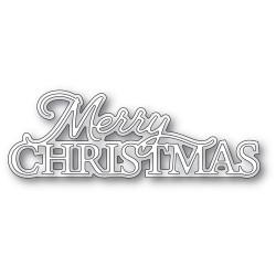 Merry Christmas Posh Script, Memory Box Dies -