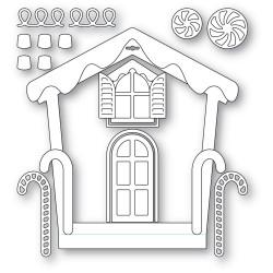 Gingerbread House Frame, Memory Box Dies -