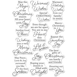 Yuletide Moments, Memory Box Clear Stamps -