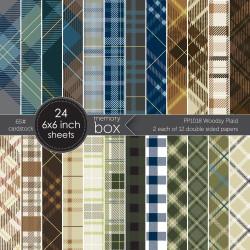 Woodsy Plaid, Memory Box 6 X 6 Paper Pad -