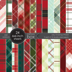 Jolly Christmas, Memory Box 6 X 6 Paper Pad -