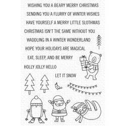 Snow Globe Singles, My Favorite Things Clear Stamps -