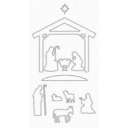 Nativity Silhouette, My Favorite Things Die-Namics -