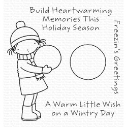 Pure Innocence - Freezin's Greetings, My Favorite Things Clear Stamps -