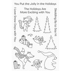 Put the Jolly in the Holidays, My Favorite Things Clear Stamps -