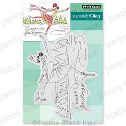 Seasonal Skater, Penny Black Cling Stamps -
