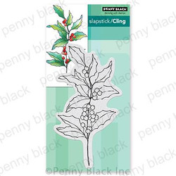 Holly Berry Branch, Penny Black Cling Stamps -