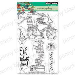 Christmas Cycling, Penny Black Clear Stamps -