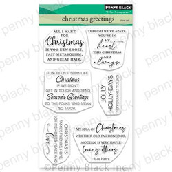 Christmas Greetings, Penny Black Clear Stamps -