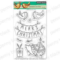 Christmas Creatures, Penny Black Clear Stamps -