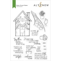 Home Sweet Home, Altenew Clear Stamps -