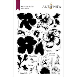 Whirlwind Flowers, Altenew Clear Stamps -