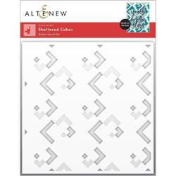Shattered Cubes Builder, Altenew Stencils -