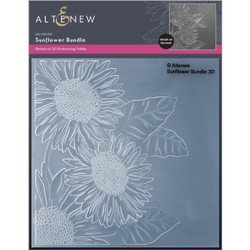 Sunflower Bundle 3D, Altenew Embossing Folder -