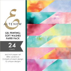 Gel Printing: Soft Washes, Altenew Paper Pack -