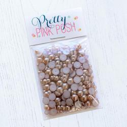 Latte, Pretty Pink Posh Pearls -