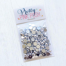 Metallic Silver, Pretty Pink Posh Pearls -