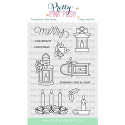 Christmas Candles, Pretty Pink Posh Clear Stamps -