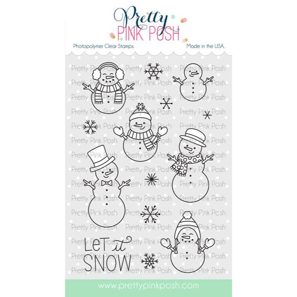 Snowmen Friends, Pretty Pink Posh Clear Stamps -