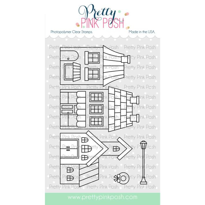 Village, Pretty Pink Posh Clear Stamps -
