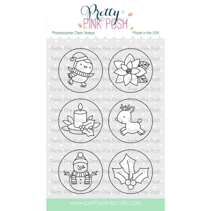 Winter Circles, Pretty Pink Posh Clear Stamps -