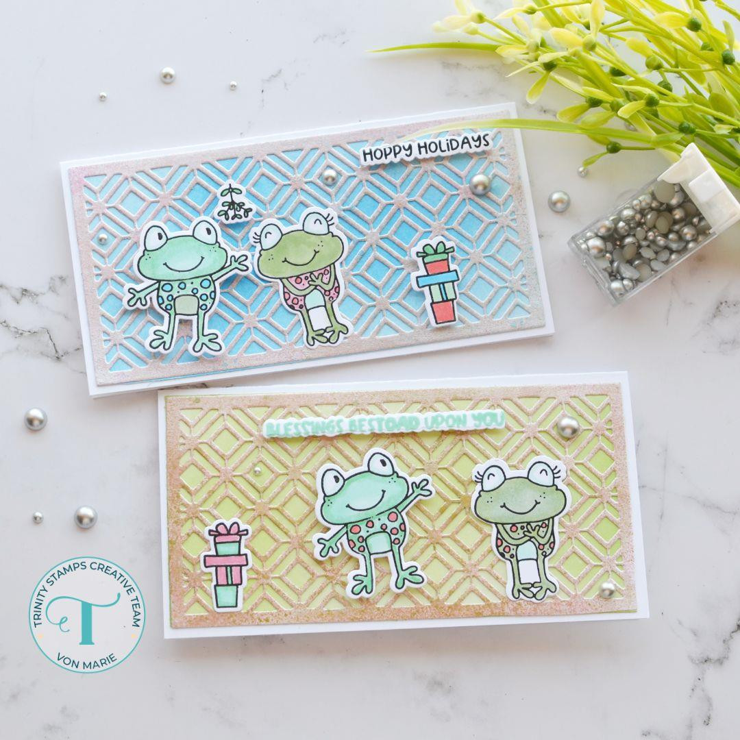 Mistletoads, Trinity Stamps Clear Stamps -