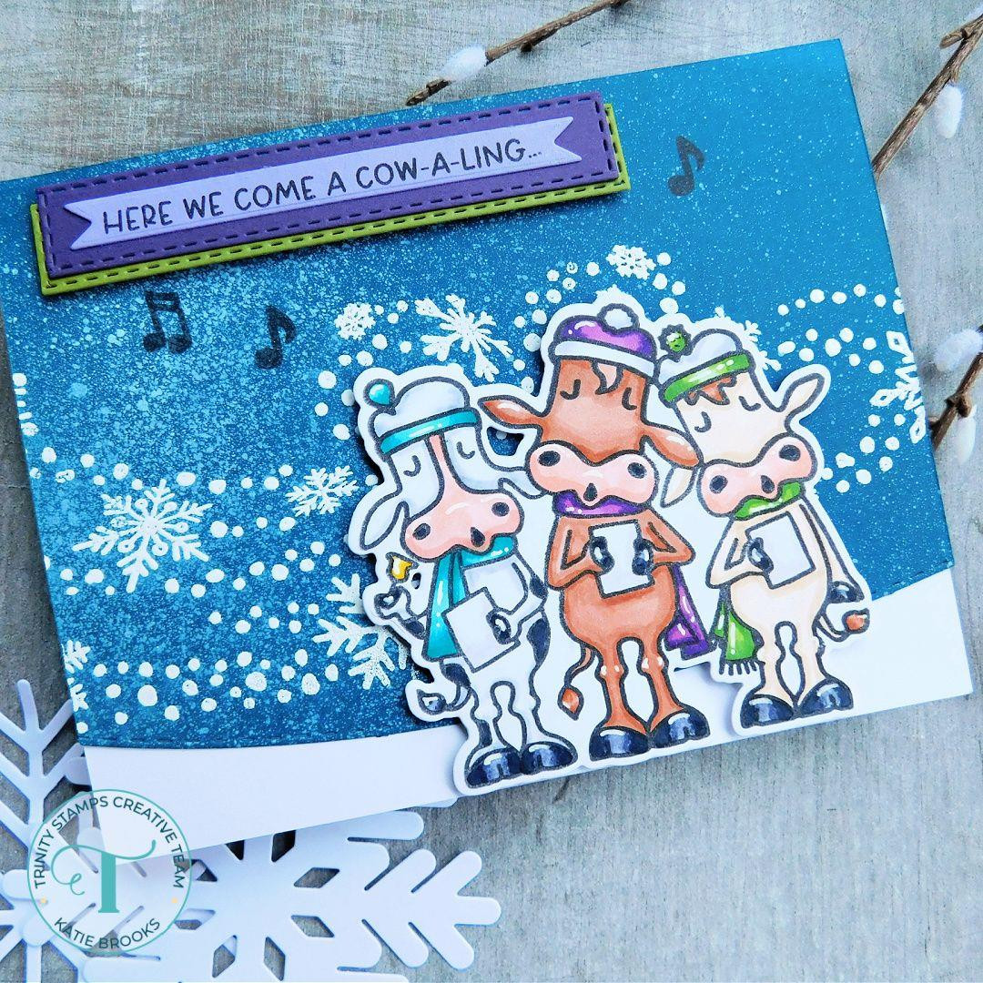 Christmas Cowolers, Trinity Stamps Clear Stamps -