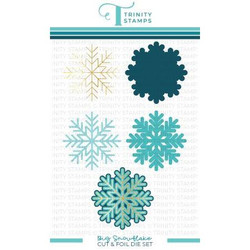 Big Snowflake, Trinity Stamps Cut & Foil Dies -