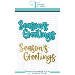 Season's Greetings, Trinity Stamps Cut & Foil Dies -