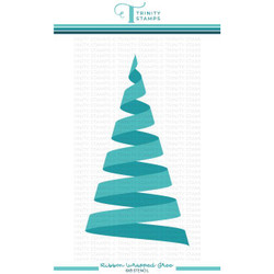 Ribbon Wrapped Tree, Trinity Stamps Stencils -
