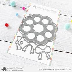 Wreath Shaker, Mama Elephant Creative Cuts -