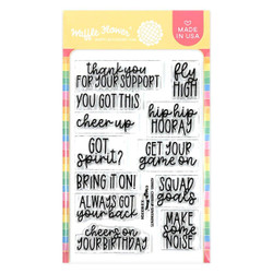 Cheer Up Sentiments, Waffle Flower Clear Stamps -