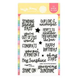 Solar System Sentiments, Waffle Flower Clear Stamps -