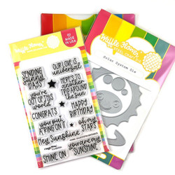 Solar System, Waffle Flower Stamp & Die Combo -