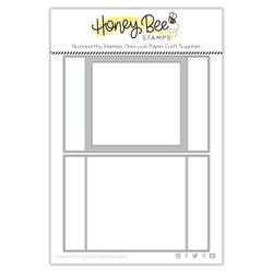 A2 Scene Builder Card Base, Honey Cuts Dies -