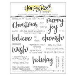 Bitty Buzzwords: Holiday, Honey Bee Clear Stamps -
