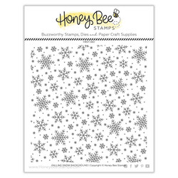 Falling Snow Background, Honey Bee Clear Stamps -