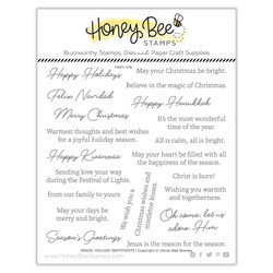 Inside: Holiday Sentiments, Honey Bee Clear Stamps -
