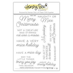Merry Christmouse, Honey Bee Clear Stamps -