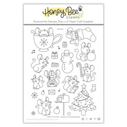 Merry Little Mice, Honey Bee Clear Stamps -